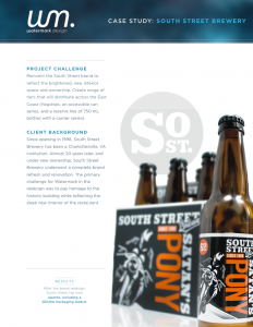 CASE STUDY FOR SOUTH STREET BREWERY