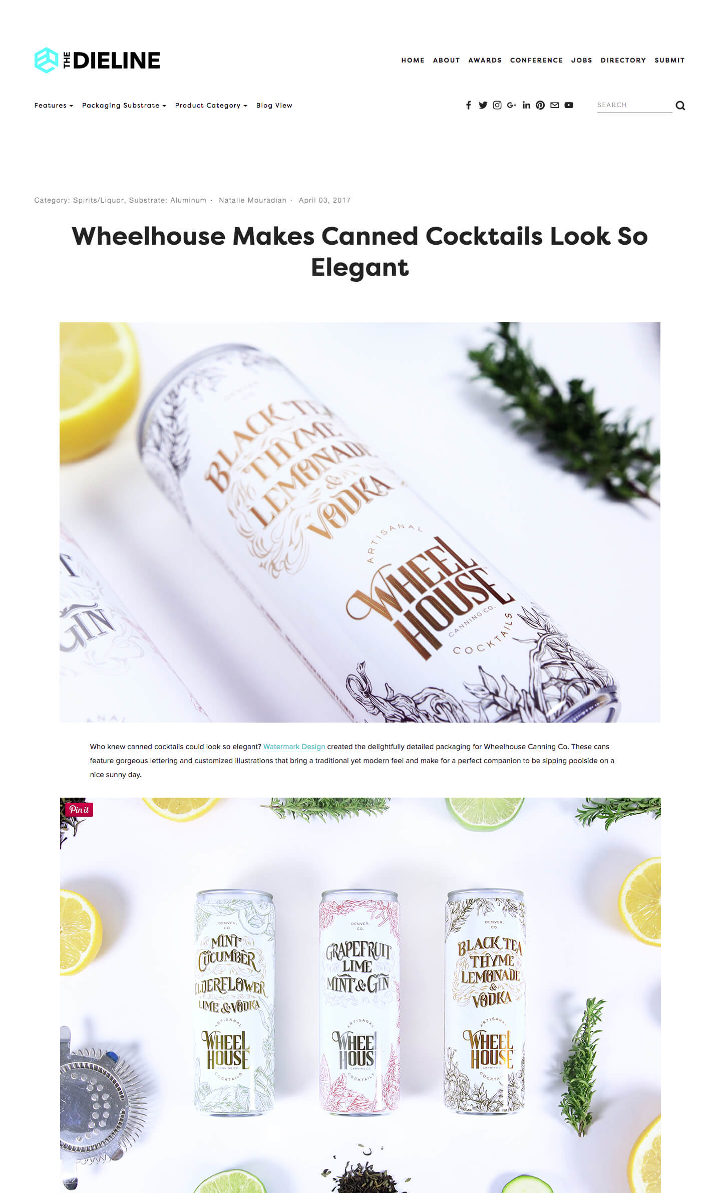 Wheelhouse Canned Cocktails Dieline Debut