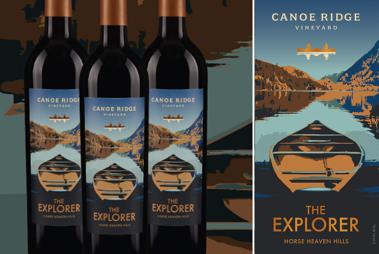 Image of Canoe Ridge Label design