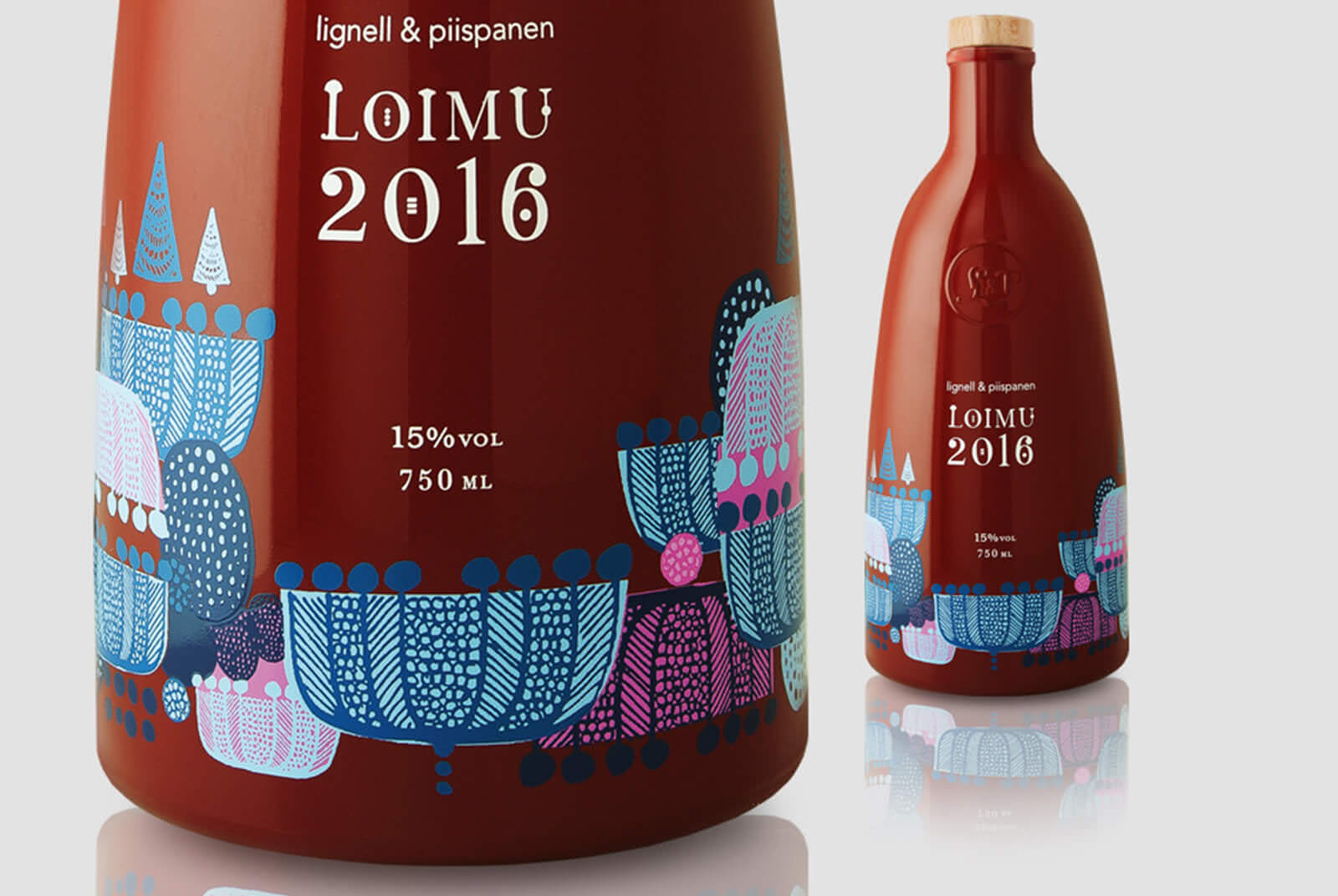 Image of Holiday Wine label design