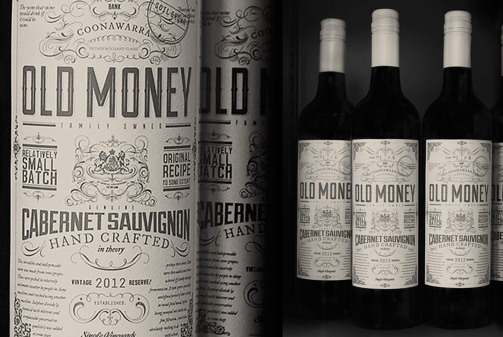 Image of Wine Label Design Old Money