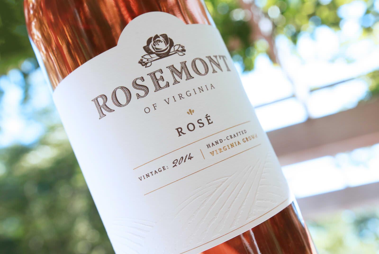 Image of wine label design for Rosemont Vineyards