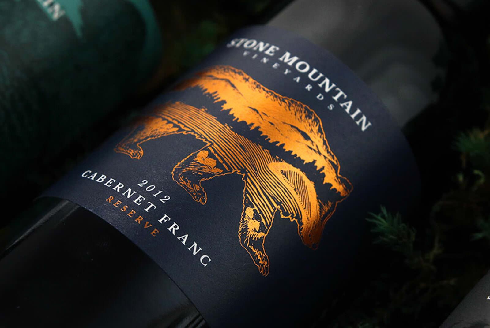 Image of Stone Mountain Vineyards Wine Label design