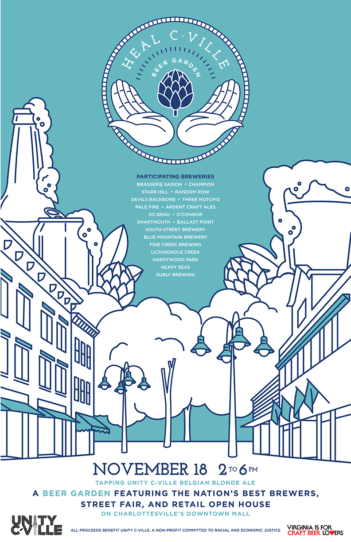 Heal Charlottesville Poster Design