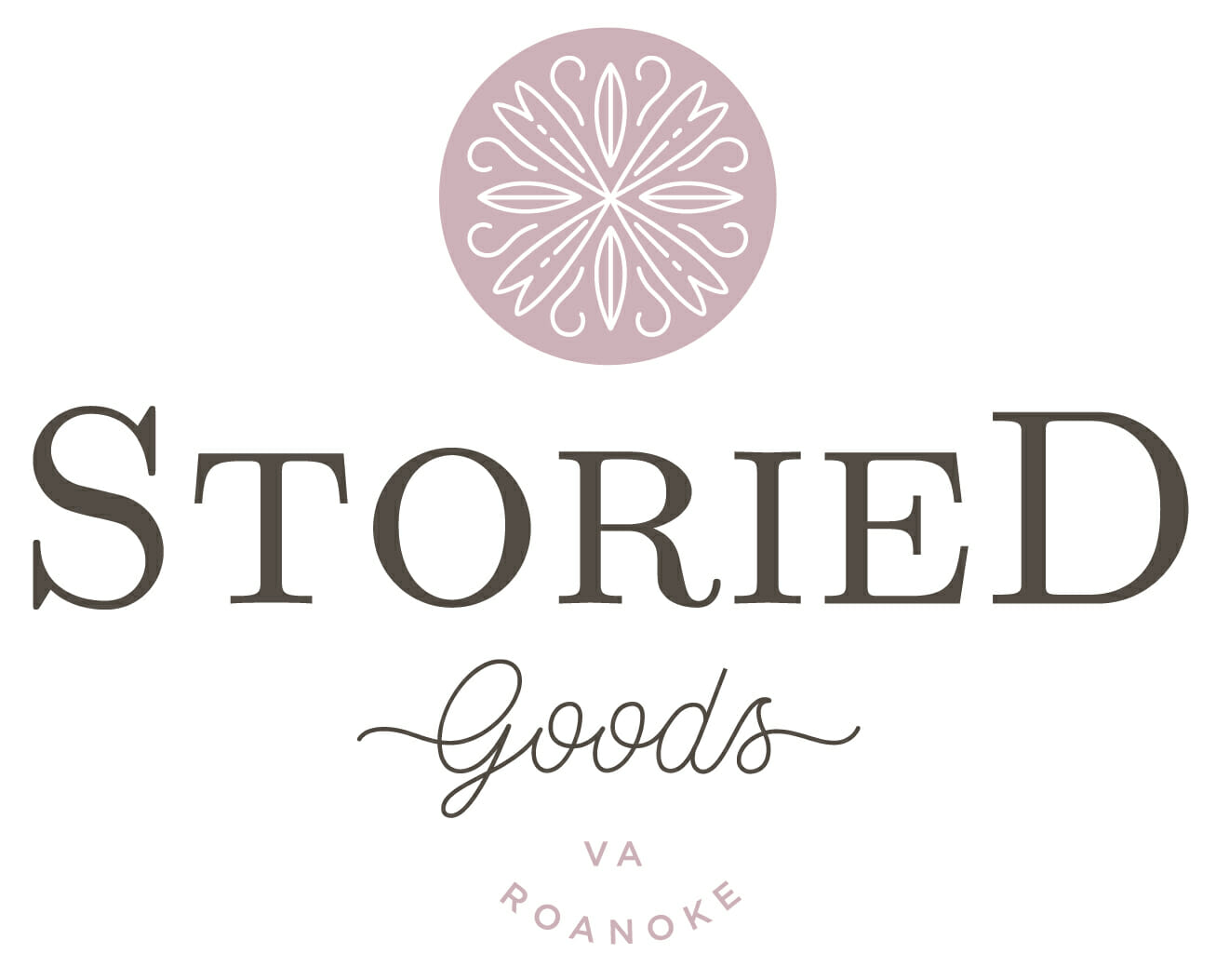 storied goods granola logo design